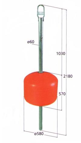 Örnboj 120 L röd förlängt ten